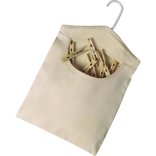 Homz 15 In. x 11 In. Cotton Canvas Clothespin Bag
