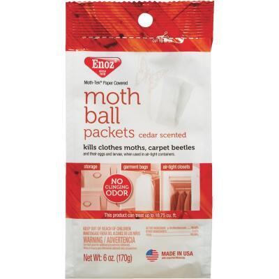 Enoz Moth-Tek 6 Oz. Up to 18.75 Cu. Ft. Coverage Area Paper Packets Moth Balls