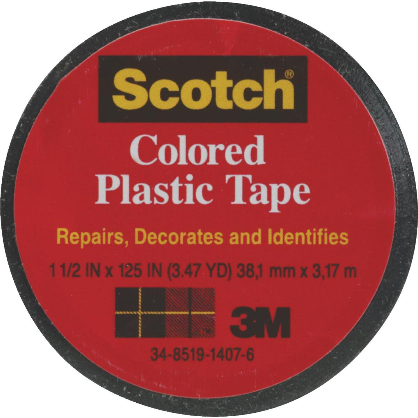 Scotch 1-1/2 In. Black Colored Plastic Tape Image 1