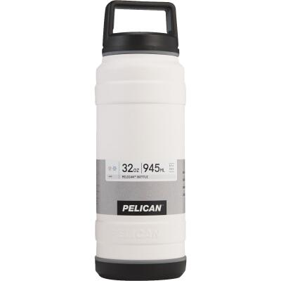 Pelican 32 Oz. White Stainless Steel Travel Bottle