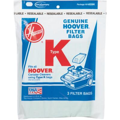 Hoover Type K Standard Vacuum Bag (3-Pack)