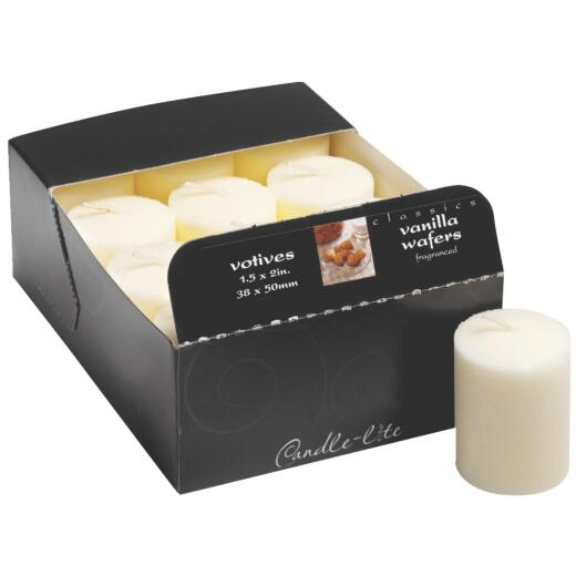 Candle-lite Essentials Classic White Linen Votive Candle