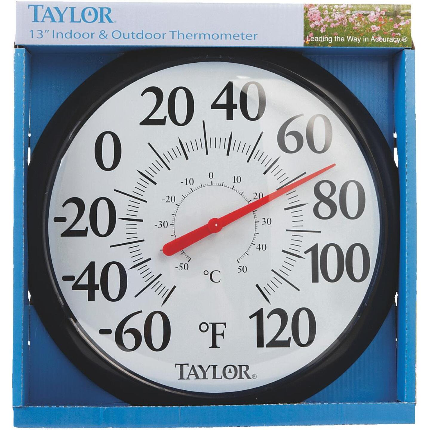 "Taylor 13-1/2"" Fahrenheit and Celsius -60 To 120 F, -50 To 50 C Outdoor Wall Thermometer Image 2"