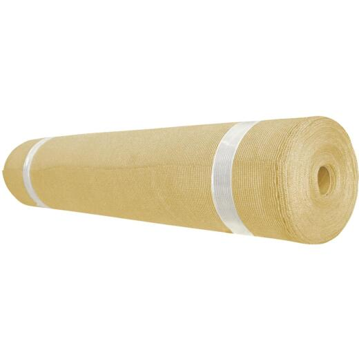 Coolaroo 12 Ft. W. x 50 Ft. L. Wheat 90% UV Sun Screen Fabric