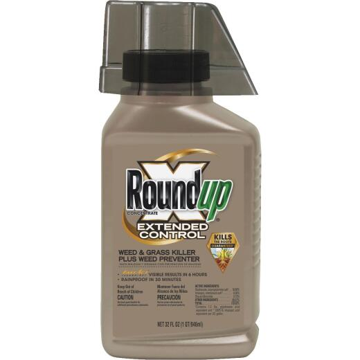 Roundup Extended Control 32 Oz. Concentrate Weed & Grass Killer Plus Weed Preventer