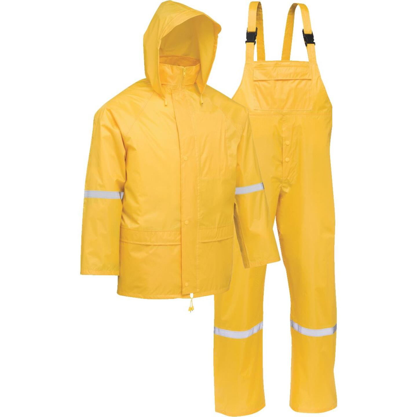 West Chester Large 3-Piece Yellow Polyester Rain Suit Image 1
