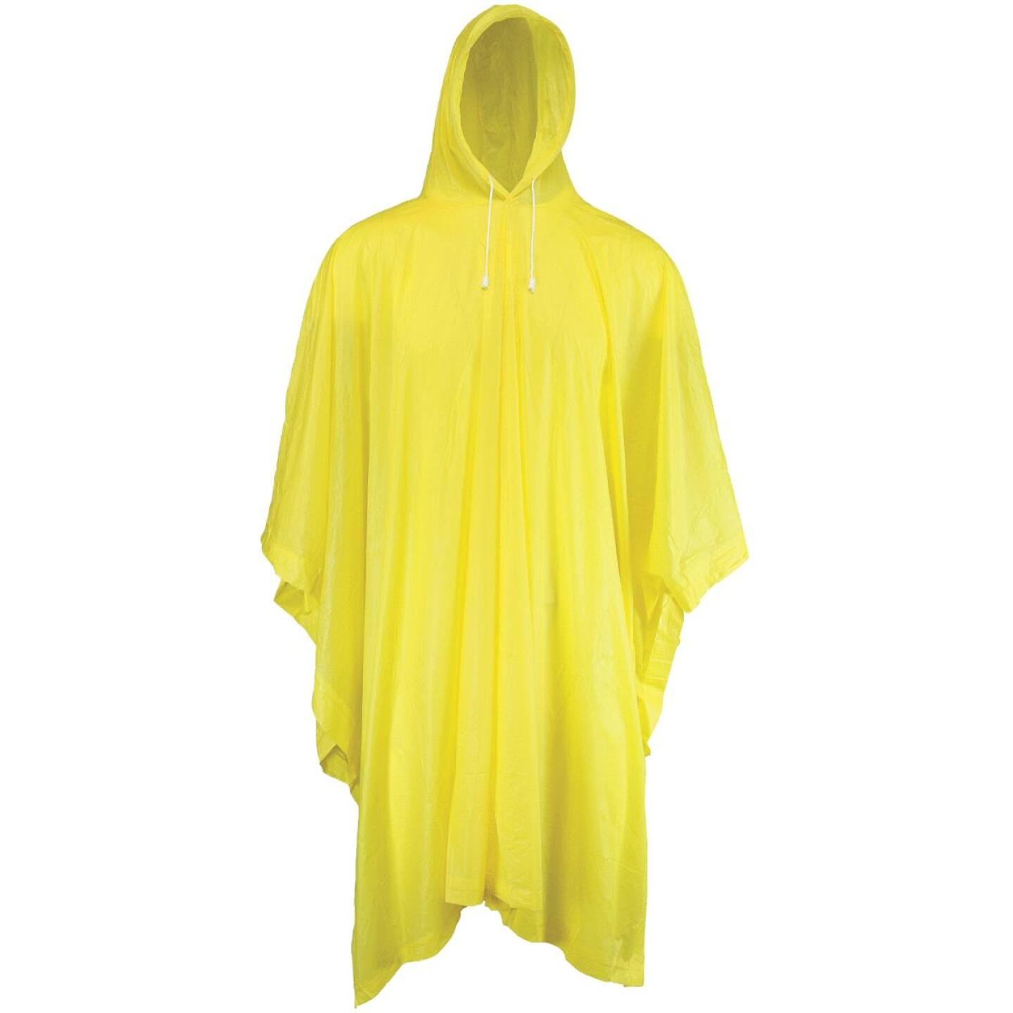West Chester 50 In. x 80 In. Yellow Rain Poncho Image 1