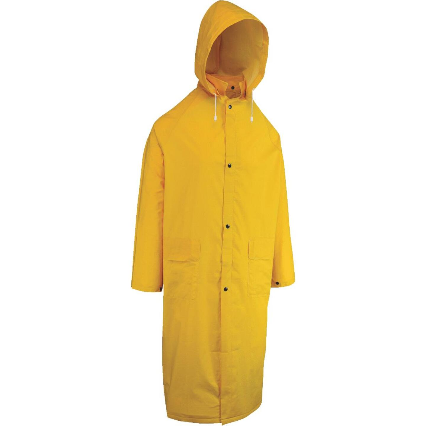 West Chester XL Safety Yellow PVC Trench Coat Image 1