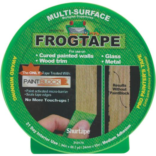 FrogTape 0.94 In. x 60 Yd. Multi-Surface Masking Tape
