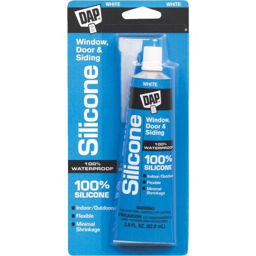 DAP 2.8 Oz. Window, Door & Siding Silicone Sealant, White