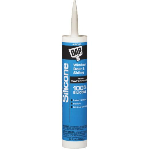 DAP 9.8 Oz. Window, Door & Siding Silicone Sealant, Almond