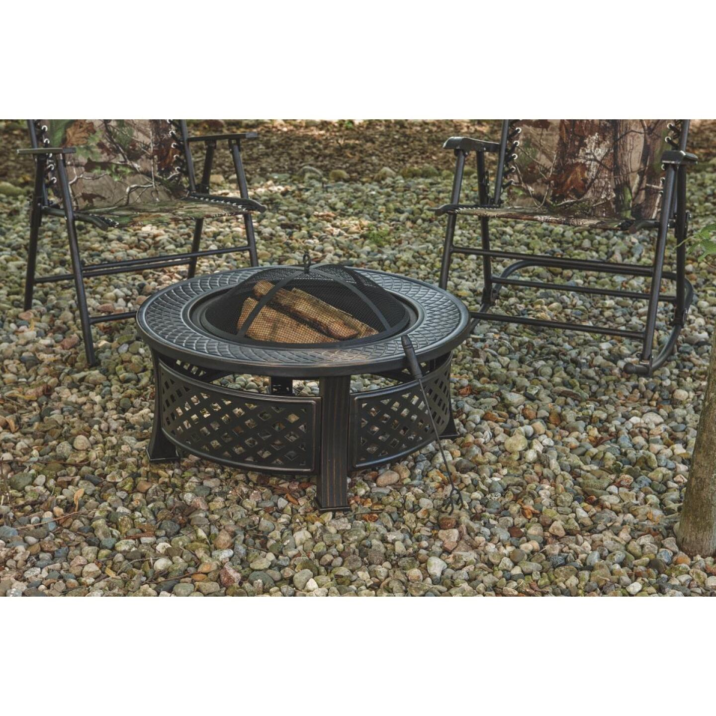 Outdoor Expressions 32 In. Antique Bronze Round Fire Pit Image 2
