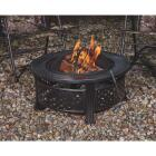 Outdoor Expressions 32 In. Antique Bronze Round Fire Pit Image 3