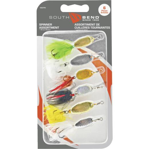 SouthBend 6-Piece Spinner Fishing Lure Kit