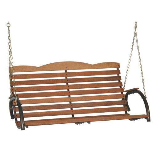 Jack Post Country Garden 51 In. W. x 25 In. H. x 27 In. D. Bronze Wood Porch Swing