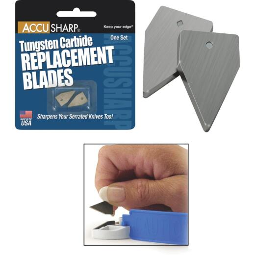 AccuSharp Tungsten Carbide Replacement Sharpening Blade (2-Pack)