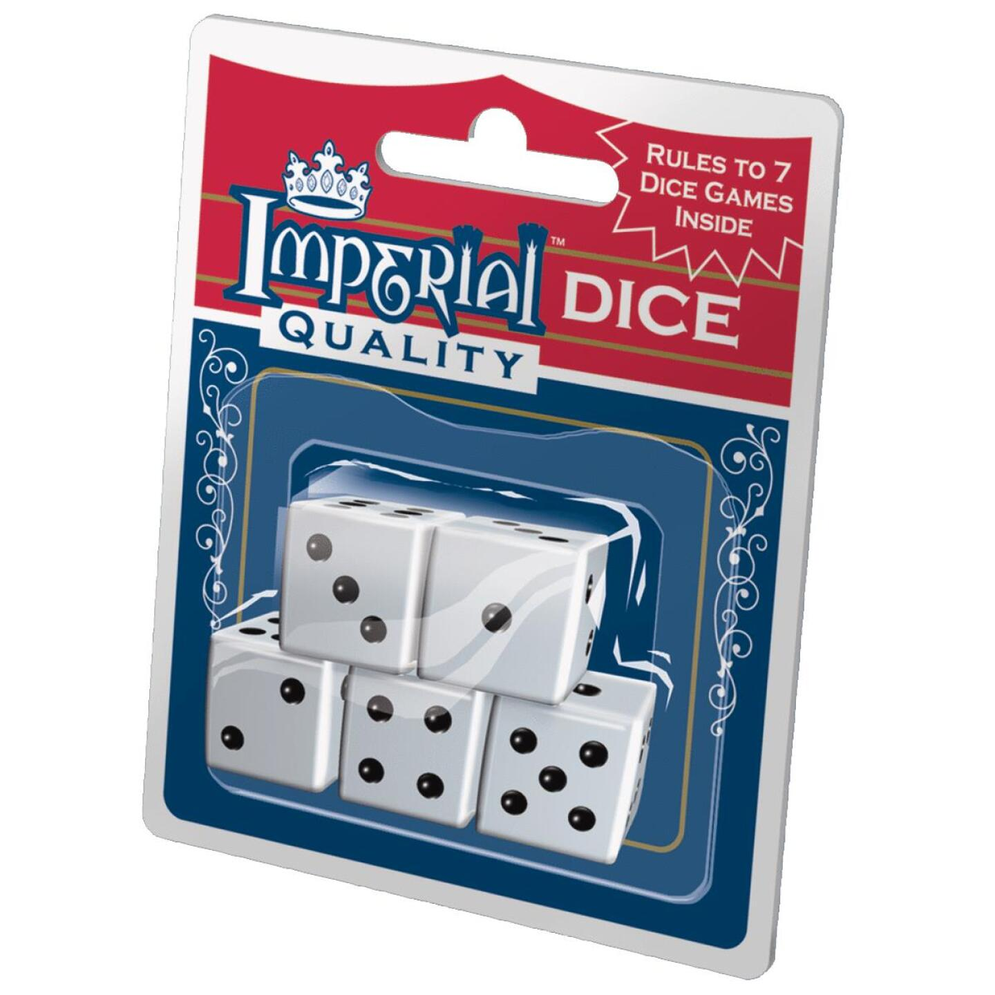 Imperial Quality White Dice (5-Pack) Image 1